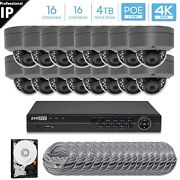 Hikvision Generic 16ch 4k 8mp Poe Nvr 16 X 5mp Dome Camera Security System 4tb