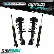 2 Front Strut And Spring + 2 Rear Shock Absorber For 2009 2010-2014 Nissan Maxima