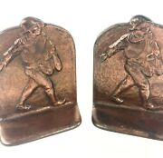 The Sower Johnny Appleseed 1925 Antique Dal Bookends Cast Iron Metal