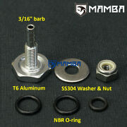 3/16 Turbo Boost Vacuum Soft Mount Fitting Into Silicone Hose Universal Fitting