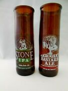 Stone Brewing Company Beer Glasses Made From Bottles - Ipa And Arrogant Bastard Al