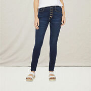 New A.n.a Womenand039s High Rise Button Fly Skinny Jeans 2 4 6 8 10 12 14 16 18 26w