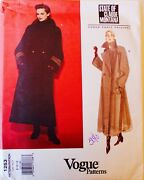 Vogue 1253 Montana Double Breasted Coat Sew Pattern Sz 8-12 Uc