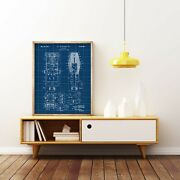 Microphone 1941 Patent Printvintage Microphone Blueprintacoustic Device Poster
