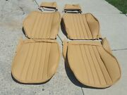 Porsche Seat Kit 911 912 New Upholstery Champagne Leather Kit Beautiful New