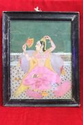 Photo Frame 1900s Old Vintage Rare Paper Painting Collectible Ph-46