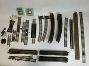 Vintage Ho Railroad Train Track And Accessories Atlas Brass. 58 Piece Lot