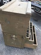 Vintage 1952 Signal Corps-us Army Tool Chest-storage-work Station-century-phone