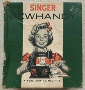 1950and039s Singer Sewhandy Model 20 Black Sewing Machine Orig Box