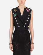 Nwt Dolce And Gabbana Women's Wool And Silk Vest In Black Size It 38 Msrp 3395