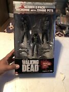 New The Walking Dead Mcfarlane Bloody 3 Pack Michonne With Pets Figures Series 3