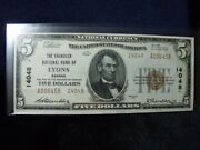 14048 5 1929 National Lyons Kansas Crisp Unc. Ex. Dr. Charles L. Ruby Collect