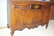 Antique Jacobean Walnut Dining Room Buffet Circa Late 1800andrsquos