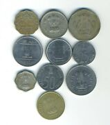 India - Lot Of 10 Different Coins - Great Starter - Lot In-15