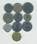 India - Republic - Lot Of 10 Different Coins - Great Starter - Lot In-21