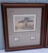 Washington State Duck Print Stamp Ronald Louque Ap 20/55 Signed Framed