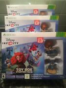 Lot 3 Xbox 360 Disney Infinity Toy Box Starter Pack 2.0 Edition New