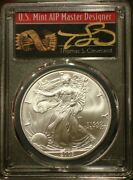 2003 1 American Silver Eagle Pcgs Ms70 Thomas Cleveland Arrows