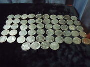 54 Famous/great American Set Of Medals. Silver Dollar Size No Album Free Ship