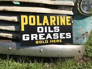 Antique Vintage Old Style Polarine Oil Grease Sign