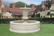 Kensington Urnt Fountain In Tate Pool Surround Stone Garden Water Feature