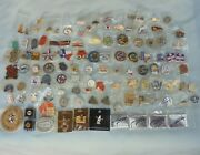 Texas Houston Livestock Show And Rodeo Committee Badge Lot Of 115 Lapel Hat Pins