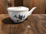 Antique Invalid Or Baby Feeder Porcelain China Pap Boat Cup Single Handle