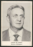 1955 Ashland Aetna Oil Edgar Ed Diddle Centered Rookie Card Hall Of Fame