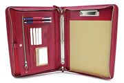 Leather Clipboard A4, Professional Folio, Leather 3 Ring Binder
