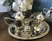 Towle Silversmith's 5-piece Silverplate Coffee And Tea Set Children's Set