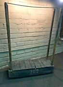 Antique Industrial Factory Mercantile Rolling Cart Clothing Rack