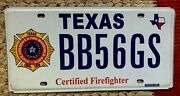 Certified Firefighter Fireman Fire Fighter Rescue First Responder License Plate