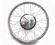 Complete Vintage Front Half Width Wheel With Brake System Ss Spokes