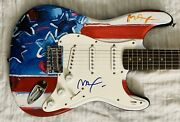 Peter Max Signed Guitar Autographed Famous Artist Limited Edition American Flag