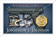 Police,new York,state,trooper,ny,department,retirement,badge,gift
