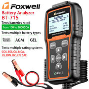 Foxwell Bt-715 Professional Battery Analyzer Tester 12v And 24v Replaced Bt-705