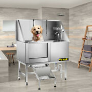 50 Pets Dogs Grooming Bath Tub Station Professional Stainless Steel Shower Spa