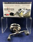 New 800sx Hibdon Right Hand Super Caster By U.s. Reel - Baitcaster