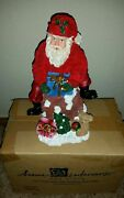 Home Interiors Christmas Rooftop Chimney Santa Figure 2001 New In Box 54041-01