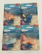 Lot Of 4 Finding Nemo Mattel Cake Toppers Figures Nemo Dory Bruce Marlin Toys