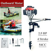Outboard Motor 2.5hp 4 Stroke Boat Engine Heavy Duty W/ Air Cooling System 54cc