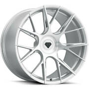 22andrdquo Flow Forged Bd-f18 Brushed Silver Wheels For Tesla Model X S 22x9 22x10.5