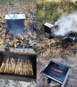 Bbq Grill Smokehouse - Meat, Fish Stainless Steel, Picnic At Home