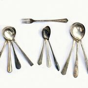 100 Pce Vntg Silver Plate Arts And Crafts Spoons And Forks Flatware Lot