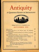 Hn Antiquity A Quarterly Review Of Archeology September 1933 C40