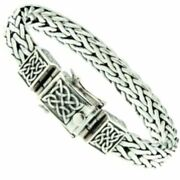 Sterling Silver Heavy Celtic Square Dragon Weave Bracelet Pbs7800 By Keith Jack