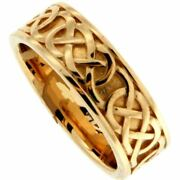 14k White Celtic Love Knot Belston Ring By Keith Jack