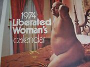 Vintage 1974 Liberated Woman's Calendar .real Cool,really Funny