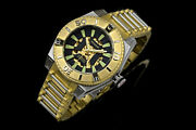 Aragon Watch Automatic Silverjet 50mm Skeleton Black Dial Gold And Silver A232gld