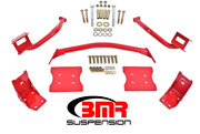 Bmr Suspension Torque Box Reinforcement Plate Kit Red For 79-04 Ford Mustang